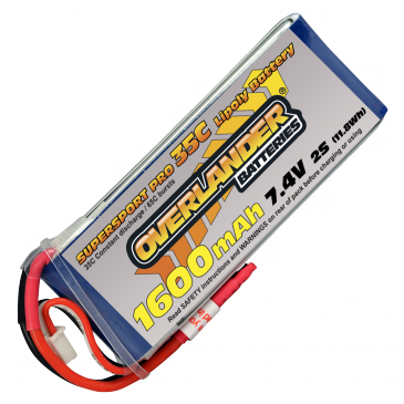 1600mAh 2S 7.4v 35C Supersport Pro
