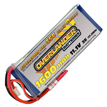 1600mAh 3S 11.1v 35C Supersport Pro Lipo