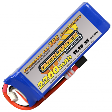2200mAh 3S 11.1v 35C Supersport Pro Lipo Deans