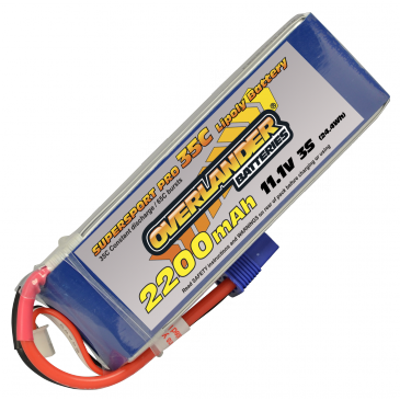 2200mAh 3S 11.1v 35C Supersport Pro EC3