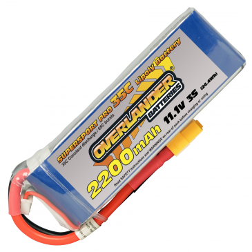 2200mAh 3S 11.1v 35C Supersport Pro XT60