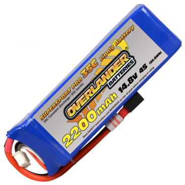 2200mAh 4S 14.8v 35C Supersport Pro XT60 Connector