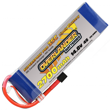 2700mAh 4S 14.8v 35C Supersport Pro Lipo XT60 Con
