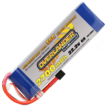 2700mAh 6S 22.2v 35C Supersport Pro LIPO