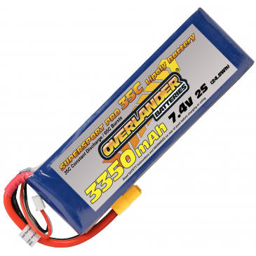 3350mAh 2S 7.4v 35C Supersport (XT60)