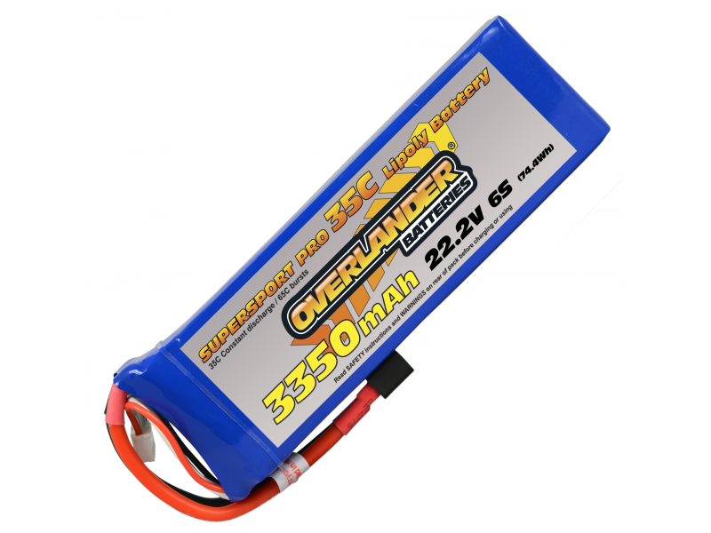 Overlander 3350mAh 6S 22.2v 35C Supersport Pro