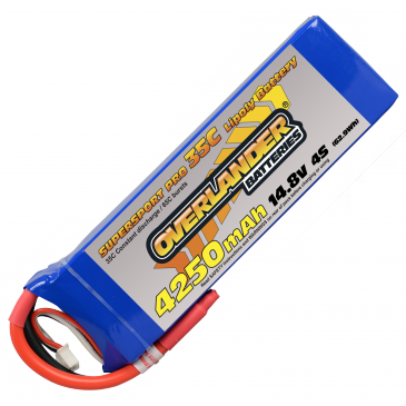 4250mAh 4S 14.8v 35C LiPo Battery Supersport Pro