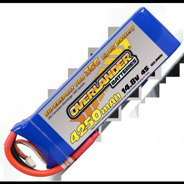4250mAh 4S 14.8v 35C LiPo Battery Supersport Pro