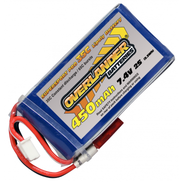 450mAh 2S 7.4v 35C Supersport Pro