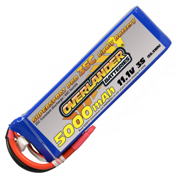 5000mAh 3S 11.1v 35C Supersport Pro