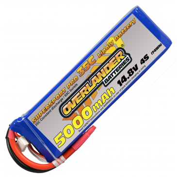 5000mAh 4S 14.8v 35C Supersport Pro