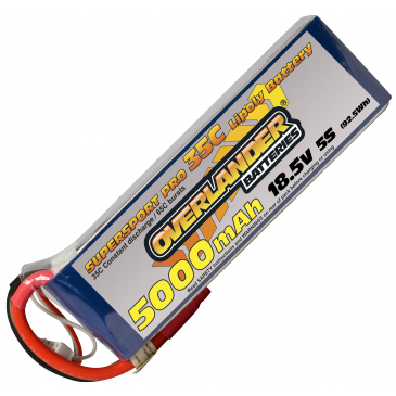5000mAh 5S 18.5v 35C LiPo Battery Supersport Pro