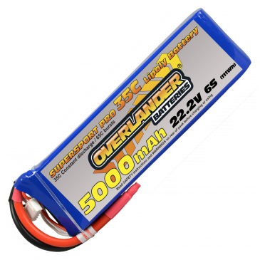 5000mAh 6S 22.2v 35C Supersport Pro