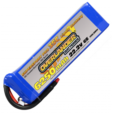 6250mAh 6S 22.2v 35C Supersport Pro Lipo