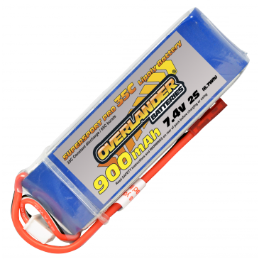 900mAh 2S 7.4v 35C LiPo Supersport Pro