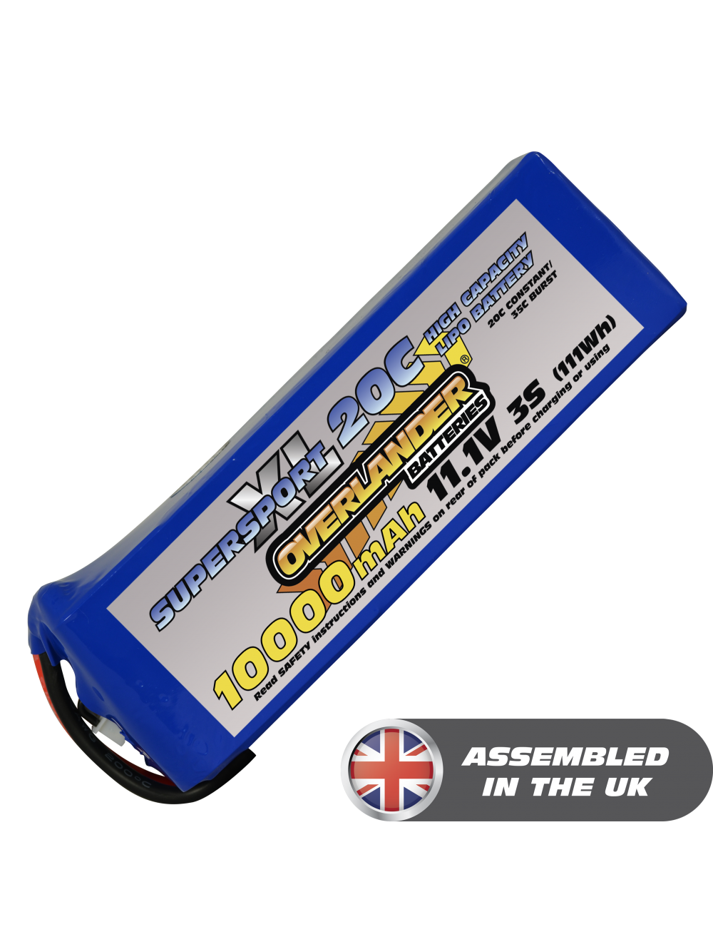 10000MAH 11.1V 3S 20C SUPERSPORT XL LIPO BATTERY