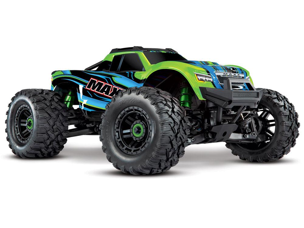 Traxxas Maxx 1:10 4WD Brushless RTR, (+ TQi, TSM, VXL-4s, ProGraphix) Green