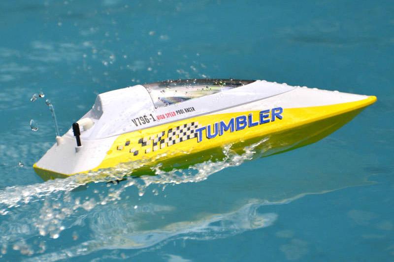 TUMBLER RTR MINI RACING BOAT - YELLOW