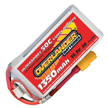 1350mAh 3S 11.1v 50C Ultrasport LiPo Battery with XT60 Connector