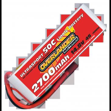 2700mAh 4S 14.8v 50C LiPo Battery - Overlander Ultrasport