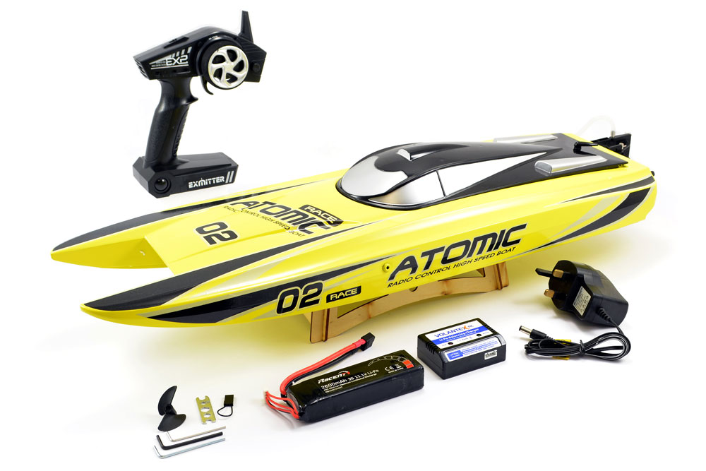 VOLANTEX RACENT ATOMIC 70CM BRUSHLESS RACING BOAT RTR (YELLOW)