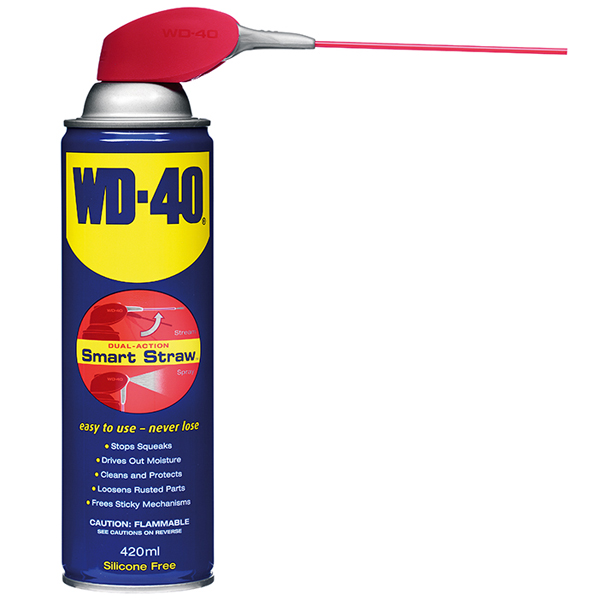WD40 aerosol (420ml) + dual action fixed smart straw