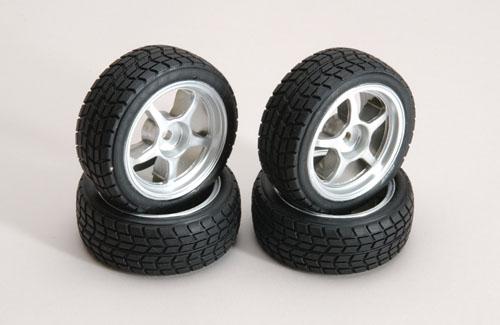 Ripmax Silver Wheel w/Tread Tyre Pk4