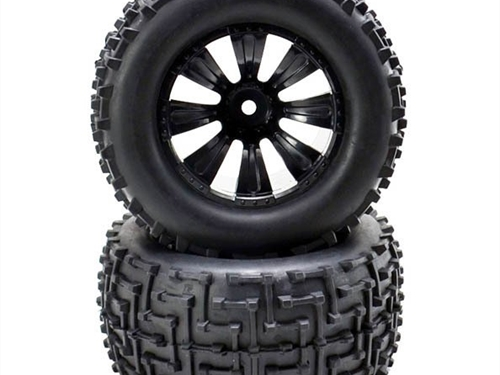 SST RACING WHEEL AND TYRE - TRUCK (PAIR) 12MM HEX